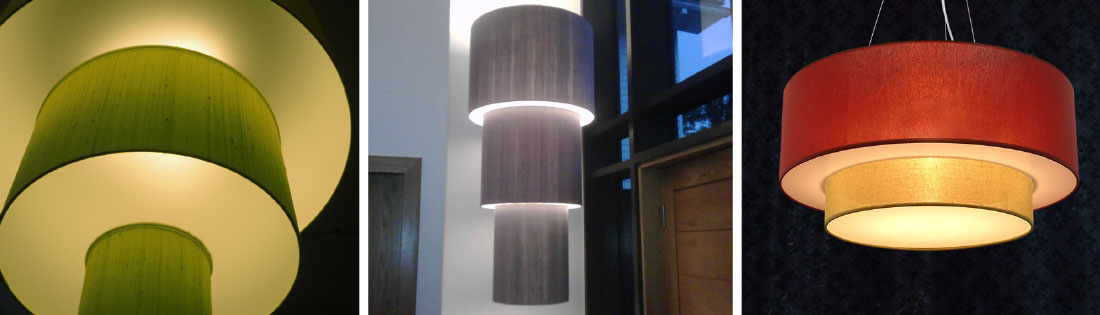 Tiered Drum Shade Diffused